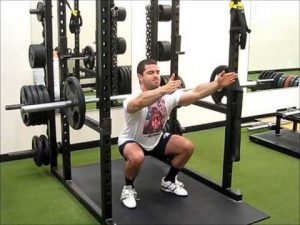 free weight squat to improve the power clean