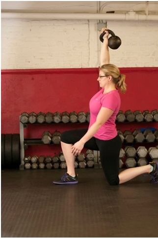 Kettlebell exercises for athletes: TGU lunge